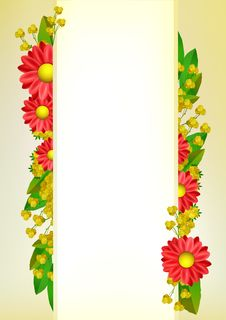 Free Red Flower Background Frame With Place For Text Royalty Free Stock Photo - 22823515