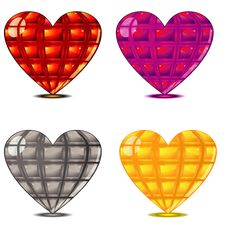 Free Four Faceted Hearts Stock Photography - 22823672