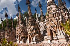 Free Stupas Forest Of The Paya,Kakku, Myanmar Royalty Free Stock Image - 22824406