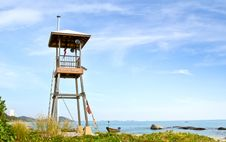 Free Beach Guard Tower Stock Photo - 22827150
