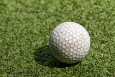 Free Old Scratched Dirty Golf Ball Royalty Free Stock Photography - 22829737