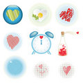 Free Set Of Original Heart Icons Royalty Free Stock Photos - 22831458