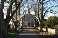 Free Road To Dalgety Bay Church Stock Image - 22830221