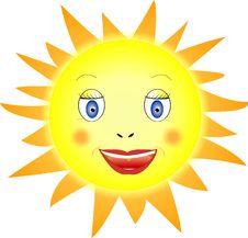 Free Smiling Sun Stock Image - 22831241