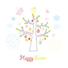 Free Easter Tree Royalty Free Stock Image - 22833596