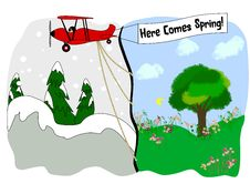 Free Here Comes Spring Stock Images - 22834494