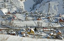 Free Snow Landscape Village Stock Photography - 22835852