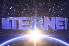 Free Internet Word Royalty Free Stock Image - 22838646