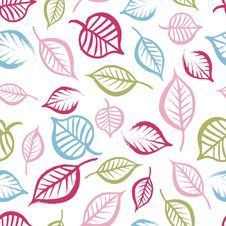 Free Seamless Pattern With Leaves Royalty Free Stock Image - 22839376