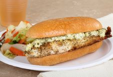 Free Fish Fillet Sandwich Stock Photo - 22841970