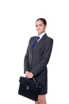 Free Businesswoman With Briefcase Royalty Free Stock Image - 22842596