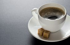 Free Black Coffee With Copyspace Royalty Free Stock Photography - 22842897