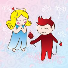 Free Angel And Demon Stock Images - 22843054