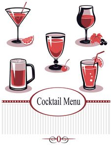 Free Summer Drinks Menu Royalty Free Stock Images - 22843659