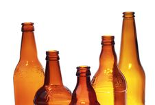 Free Glass Bottles Royalty Free Stock Photo - 22844775