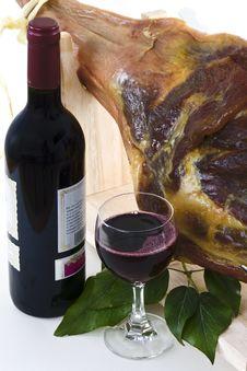 Free Ham With Wine 1 Stock Photography - 22844822
