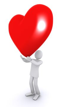 Huge Heart, Valentine S Day Stock Photography