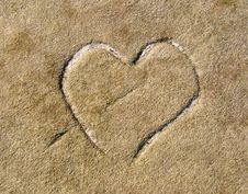Free Heart In Stone Royalty Free Stock Photo - 22844995