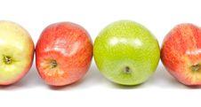 Free Four Delicious Apples On White Background Stock Photo - 22846330