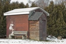 Free Garden Shed In Winter Royalty Free Stock Photos - 22847698