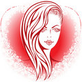 Free Girl In The Heart Royalty Free Stock Photos - 22857778
