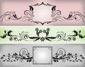 Free Set Of Black Frames Stock Images - 22857894