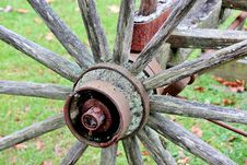 Free Old Wooden Wheel Stock Photography - 22850982