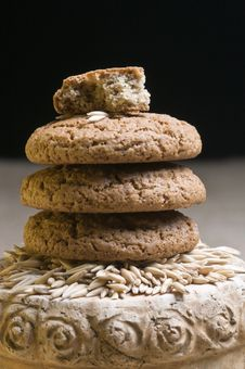 Free Oatmeal Cookies Stock Photography - 22854382