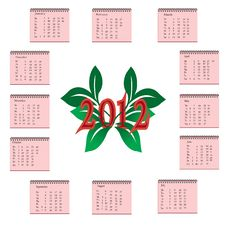 Calendar 2012 Stock Photos