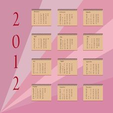 Free Calendar 2012 Royalty Free Stock Photo - 22855655