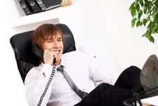 Free Young And Successful Businessman Talking By Phone Stock Images - 22856314