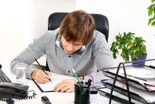 Young Businessman In His Office Royalty Free Stock Photo