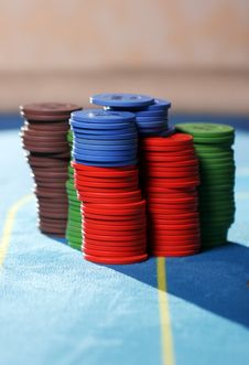 Free Stack Of Poker Chips Stock Photo - 22856830