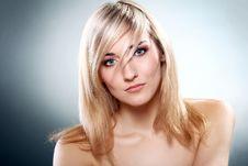 Portrait Of Beautiful Blonde Stock Image