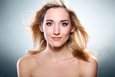 Portrait Of Beautiful Blonde Stock Images