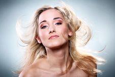 Portrait Of Beautiful Blonde Stock Photography