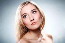 Portrait Of Beautiful Blonde Stock Photos