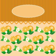 Frame With Oranges Royalty Free Stock Images
