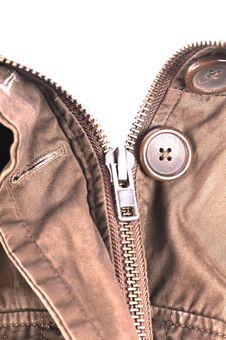 Free Stylish Jacket With Open Zipper Isolated Stock Photos - 22857903