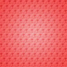 Free Seamless Pattern Light Red Hearts Royalty Free Stock Photo - 22858605