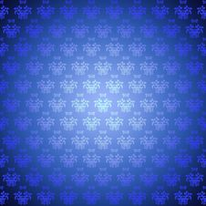 Free Seamless Pattern Blue Flowers Stock Images - 22858884