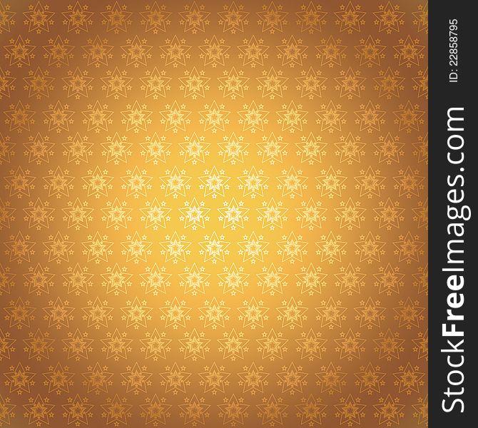Seamless pattern golden stars