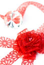Free Heart In Ribbon Rose Stock Photography - 22866922
