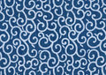 Free Curls And Curves Blue Abstract. Stock Images - 22869334