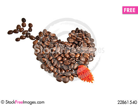 Free Heart From Coffee Beans Stock Photo - 22861540