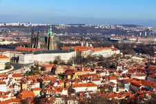 Free View Of The Cathedral Of St. Vitus From Petrin Hil Royalty Free Stock Photo - 22861455