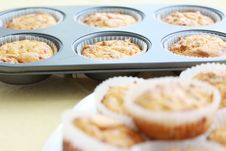Baked Muffins Royalty Free Stock Photo