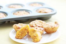 Cheeseburger Muffins Stock Images