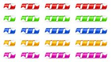 Color Spiral Ribbon Royalty Free Stock Images