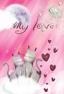 Free Valentine Card No4 Royalty Free Stock Image - 22865336